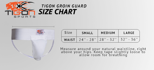 groinguard size chart