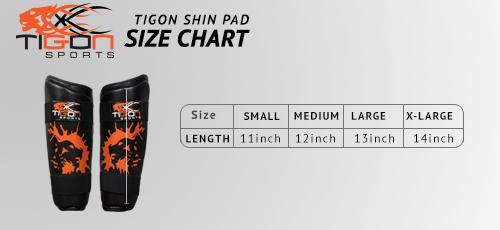 shinpad size chart
