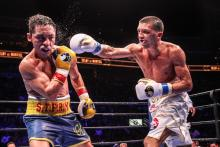 Lee Selby lands punch during title defence
