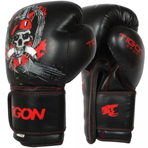 Skull boxing gloves