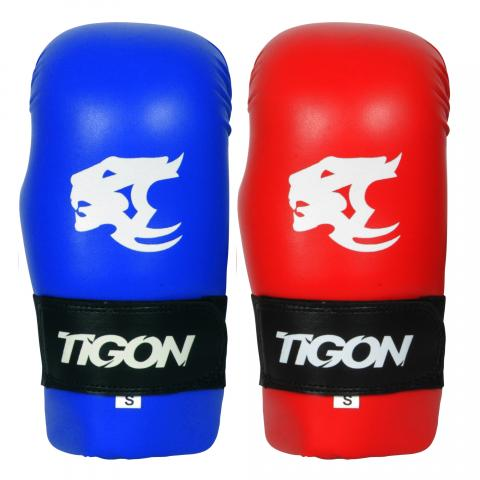 semi contact gloves red blue