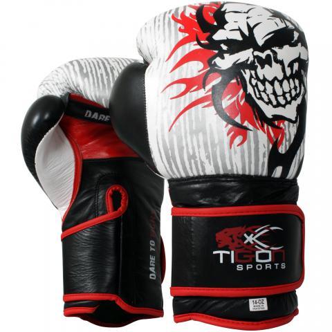 skull fire boxing gloves