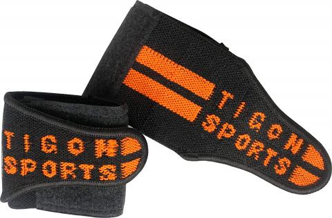 black orange wrist wraps