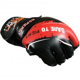 mma gloves red black